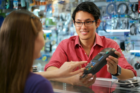 Image of card payment by Virgate Accounts a complete plug-in Accounts Department for the retail, hotel, pub and restaurant sector.