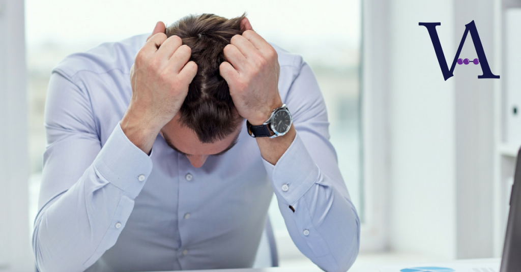 Frustrated man image by Virgate Accounts a complete plug-in Accounts Department for the retail, hotel, pub and restaurant sector.