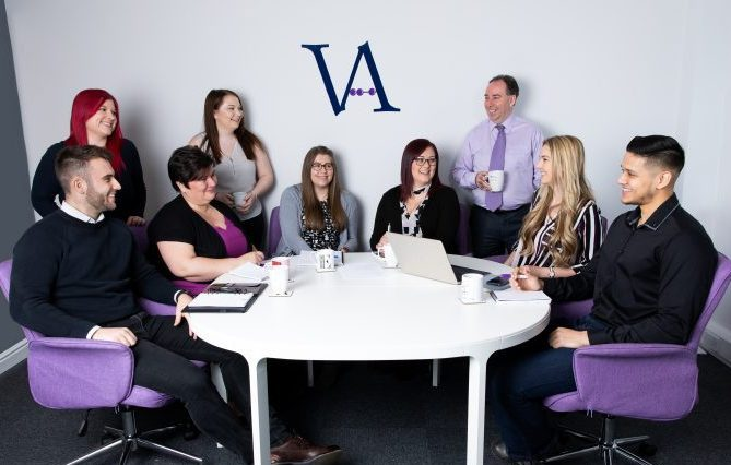 Team members at Virgate Accounts a complete plug-in Accounts Department for the retail, hotel, pub and restaurant sector.